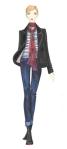 stripe and blazer